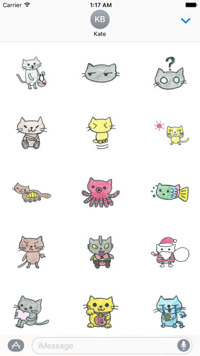Stickers Of Doodle Cute Cats screenshot 2