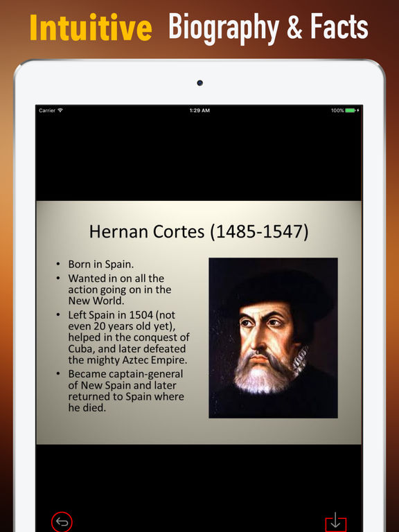 Biography and Quotes for Hernan Cortes screenshot 6