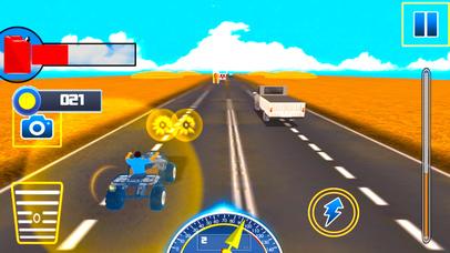 Traffic Quad Bike Rider : End-Less Road Rac-ing 3D screenshot 2