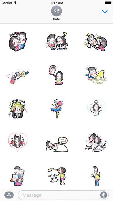 Cute Couple In Love Stickers Pack screenshot 1