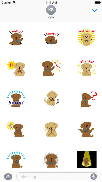 Two Adorable Puppies Sticker Packs screenshot 2