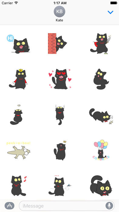 Black Munchkin Kitten The Shortest Leg Cat Sticker screenshot 1