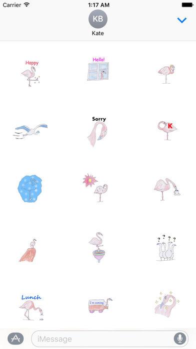 Pretty Flamingo Stickers screenshot 1