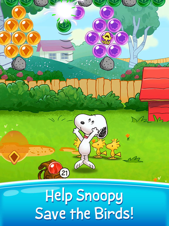 Bubble Shooter - Snoopy POP! screenshot 6