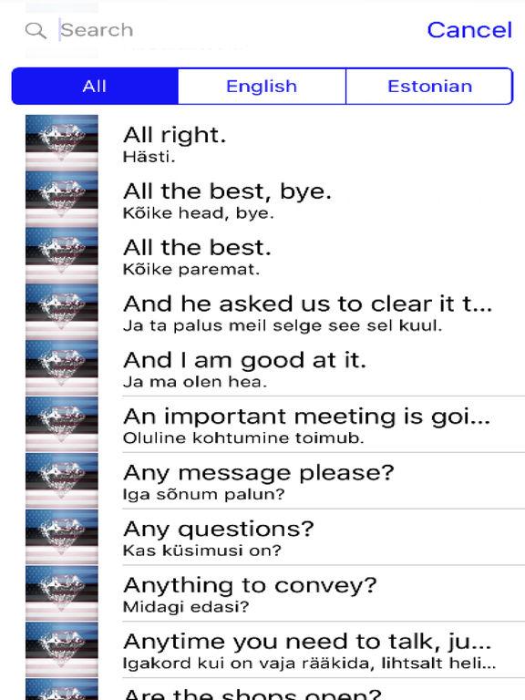 Estonian Phrases Diamond 4K Edition screenshot 4