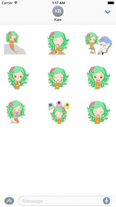 Pretty Mermaid Animated Sticker screenshot 2