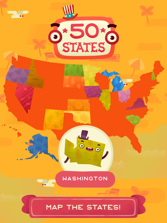50 States - Top Education & Learning Stack Games screenshot 6