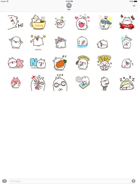 White Bunny Animated Sticker screenshot 3