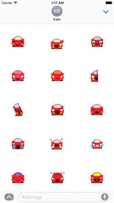Cute Red Car Carmoji Stickers screenshot 1