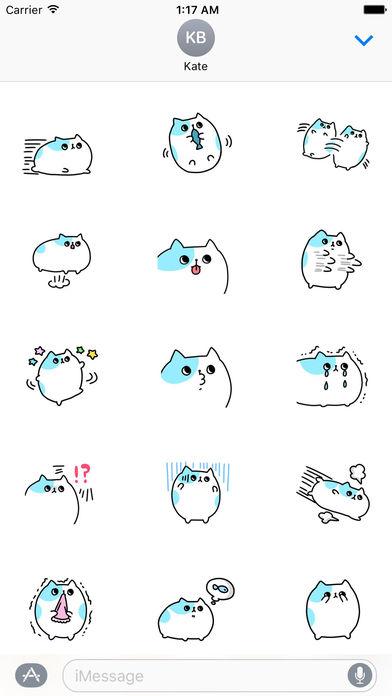 An Obese Cat Stickers screenshot 2