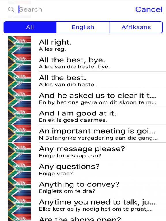 Afrikaans Phrases Diamond 4K Edition screenshot 4