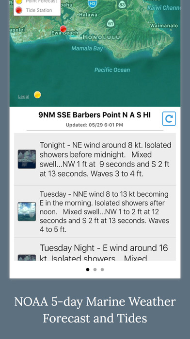 NOAA 5-day Marine Forecast screenshot 1