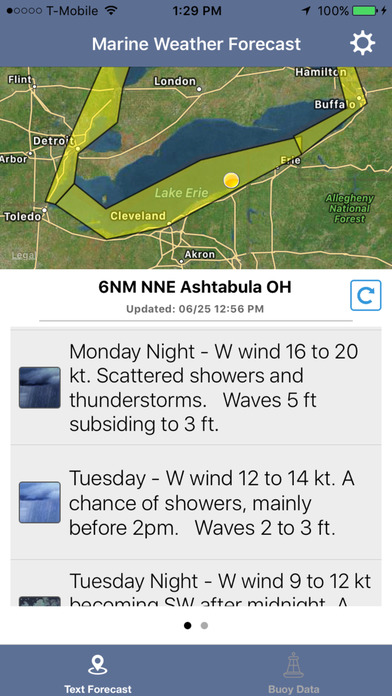 Lake Erie Boating Weather screenshot 1