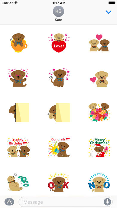 Two Adorable Puppies Sticker Packs screenshot 1