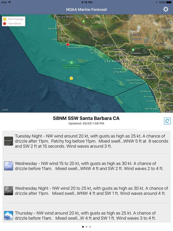 NOAA 5-day Marine Forecast screenshot 9