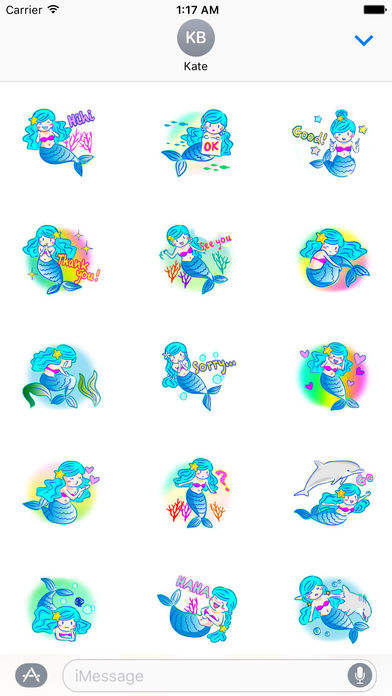 Lovely Mermaid Sticker screenshot 1