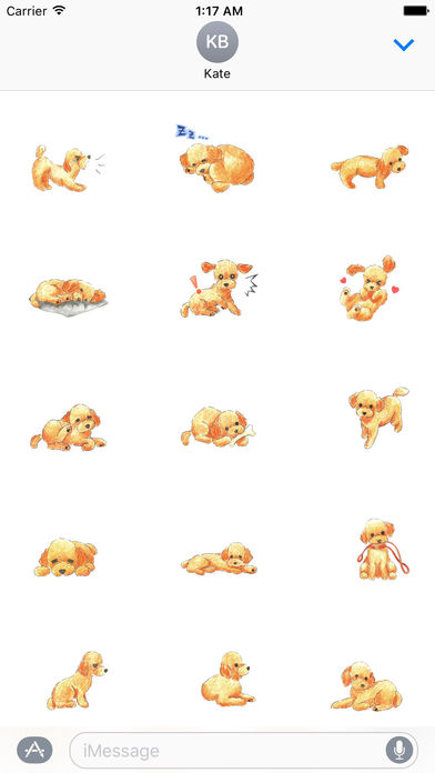 Watercolor Lovely Toy Poodle Sticker screenshot 2
