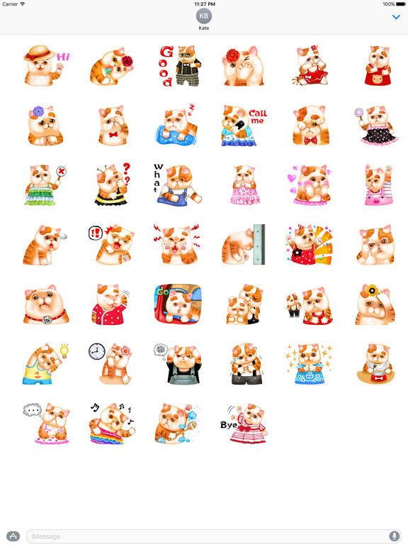 So Cute Cat Cartoon Sticker screenshot 4