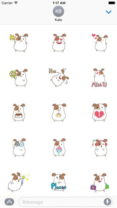 Chubby Hamster Sticker screenshot 1