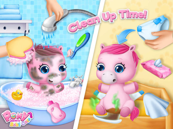 Pony Sisters Baby Horse Care - Babysitter Daycare screenshot 8