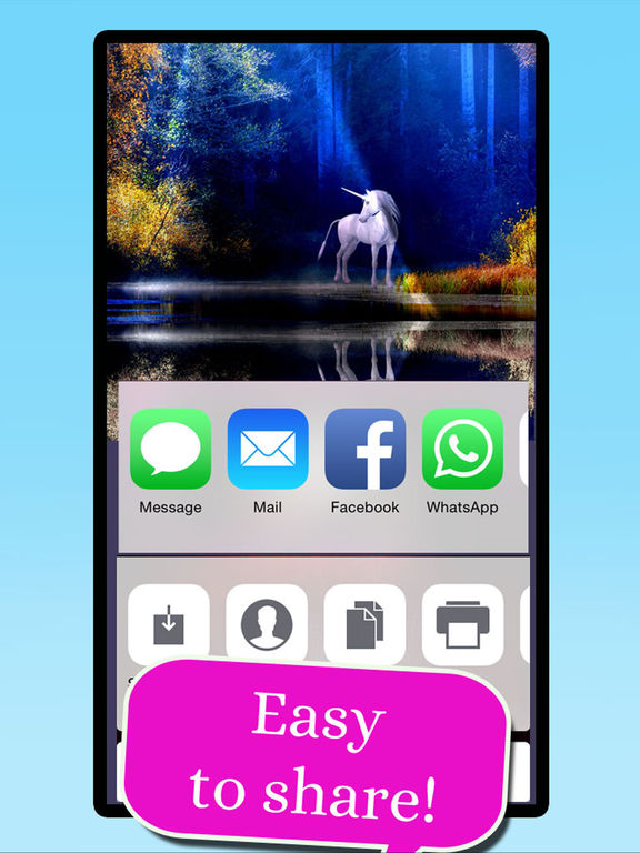 Unicorn Wallpaper Maker – Add your own text! screenshot 6