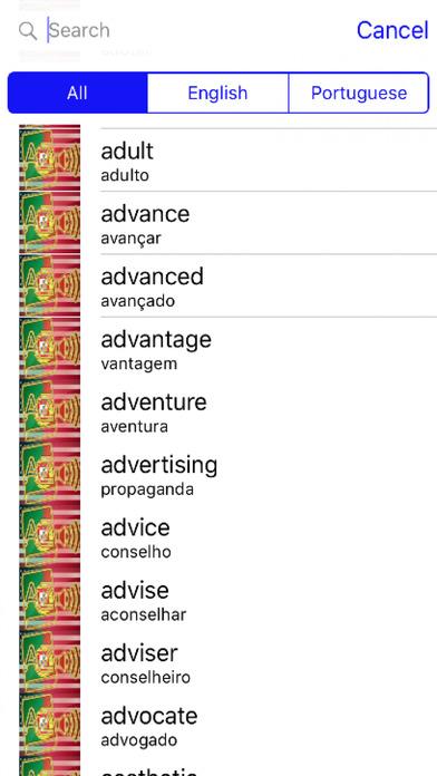 Portuguese Dictionary GoldEdition screenshot 2