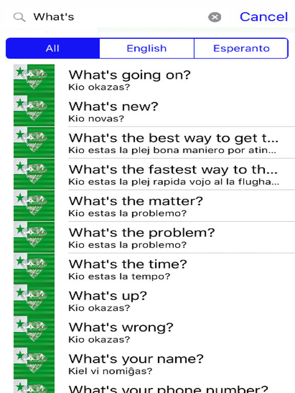 Esperanto Phrases Diamond 4K Edition screenshot 5