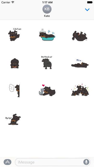 Rottweiler Dog - Rottiemoji Sticker screenshot 3