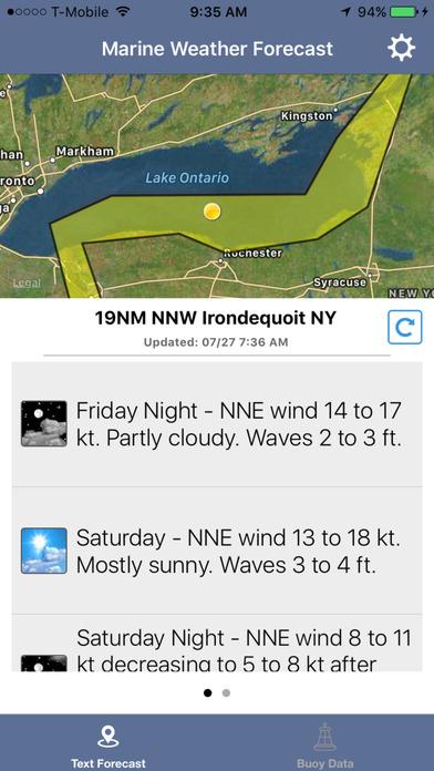 Lake Ontario Boating Weather screenshot 1