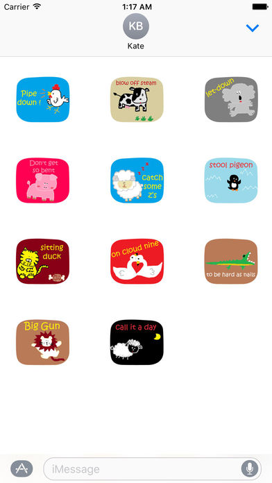 American Slang with Cute Animals Sticker screenshot 3