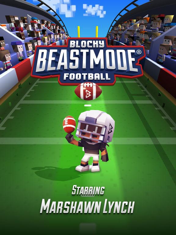 Marshawn Lynch Blocky Football screenshot 6