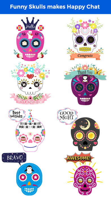 Animated Funny Skull Emoji screenshot 1