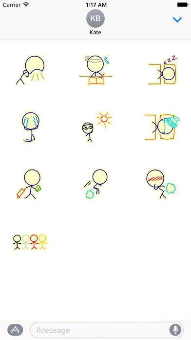 Life of Stick Man Stickers screenshot 3