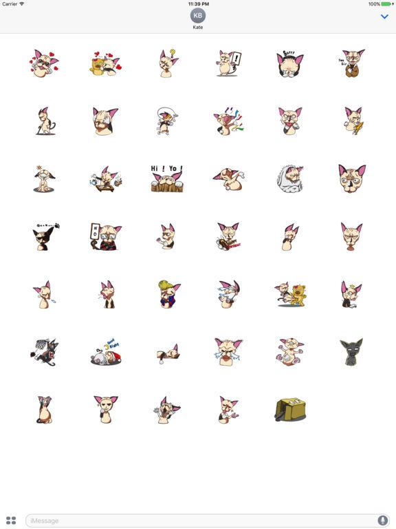 Sphynxmoji - Sphynx Cat Emoji Sticker screenshot 4