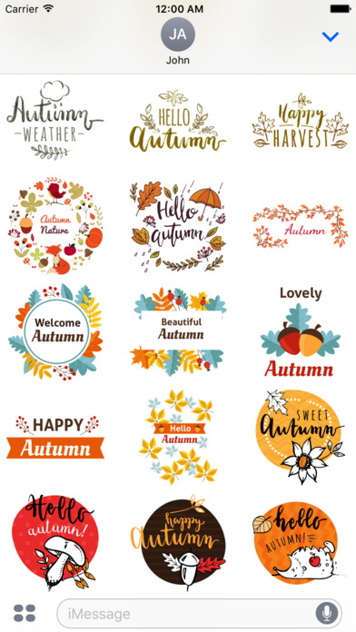 Autumn Greetings - Say it With Beautiful Stickers screenshot 3