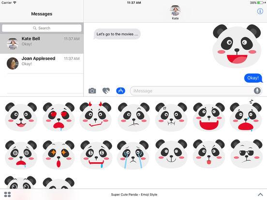 Super Cute Panda - Emoji Style screenshot 3
