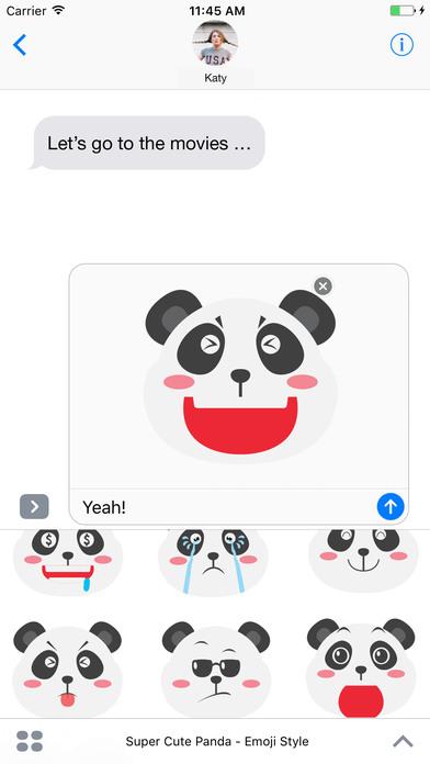 Super Cute Panda - Emoji Style screenshot 1