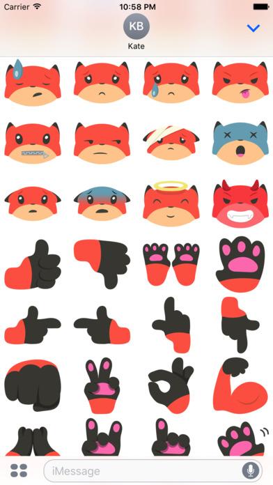 Fox Emojis screenshot 4