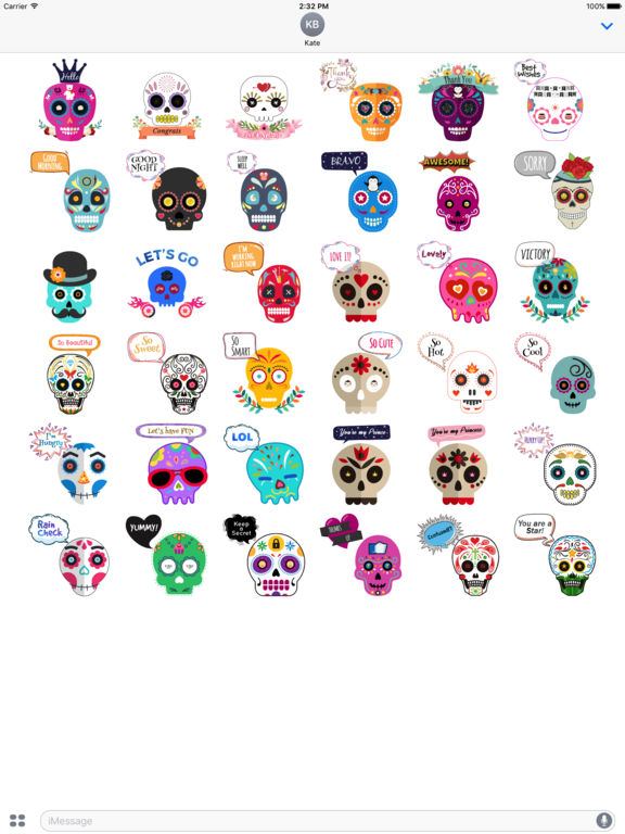 Animated Funny Skull Emoji screenshot 6