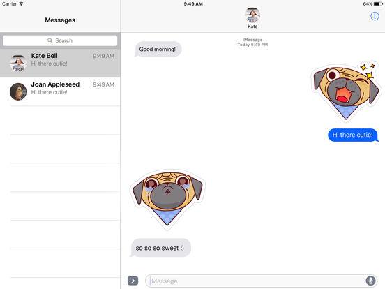 Cute Bulldog Emojis screenshot 2