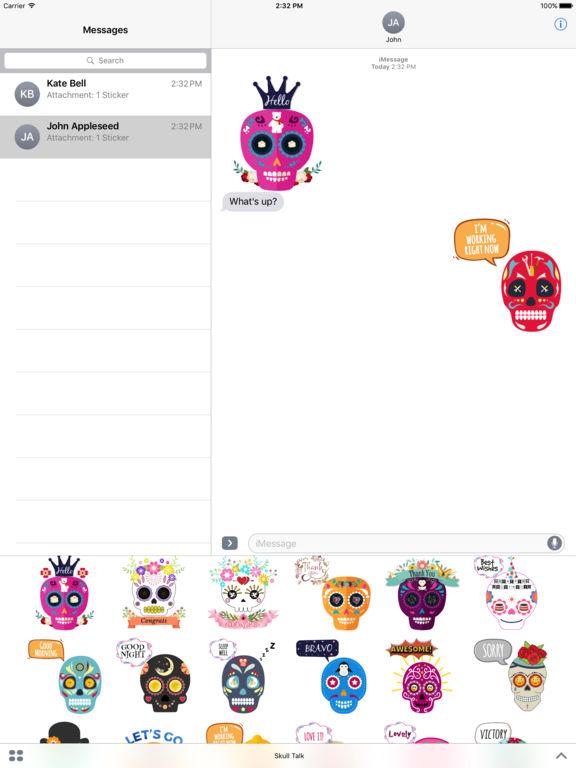 Animated Funny Skull Emoji screenshot 7