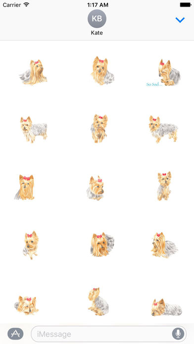 Yorkie Dog Stickers screenshot 2