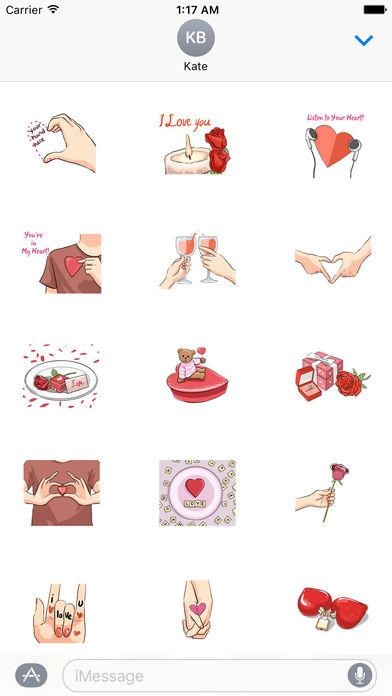 LoveMoji - Signs of Love Sticker screenshot 1