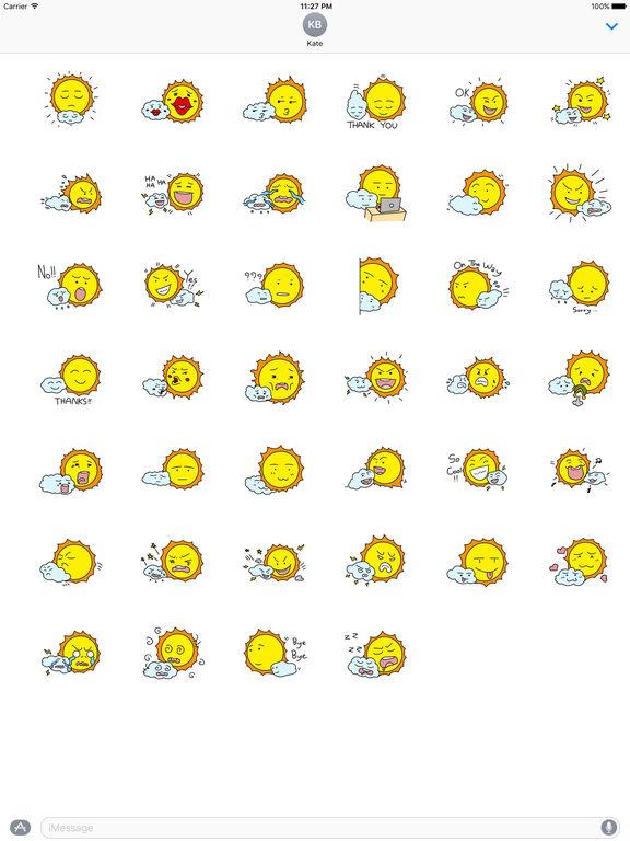 The Sun and Cloud Emoji Sticker screenshot 4