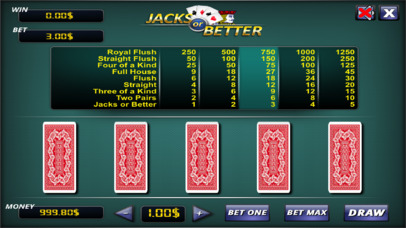 Jacks or Better ® screenshot 2