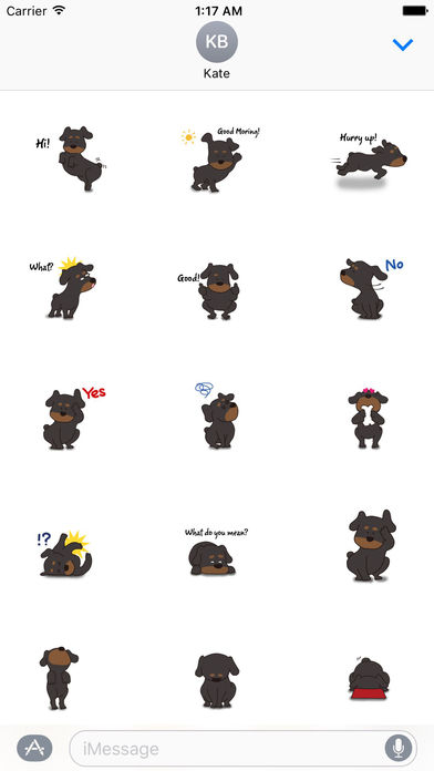 Rottweiler Dog - Rottiemoji Sticker screenshot 1