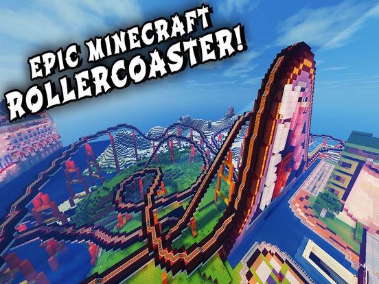 VR Roller Coaster - VR for Minecraft PE screenshot 3
