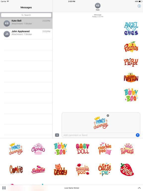 Love Name Stickers screenshot 6