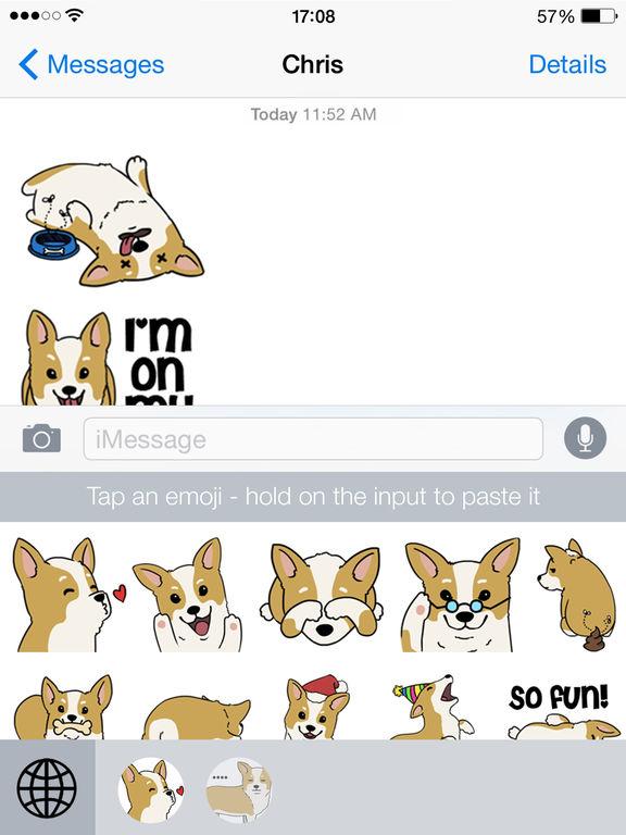 CorgiMoji - Corgi Pet Dog Emoji Stickers screenshot 3
