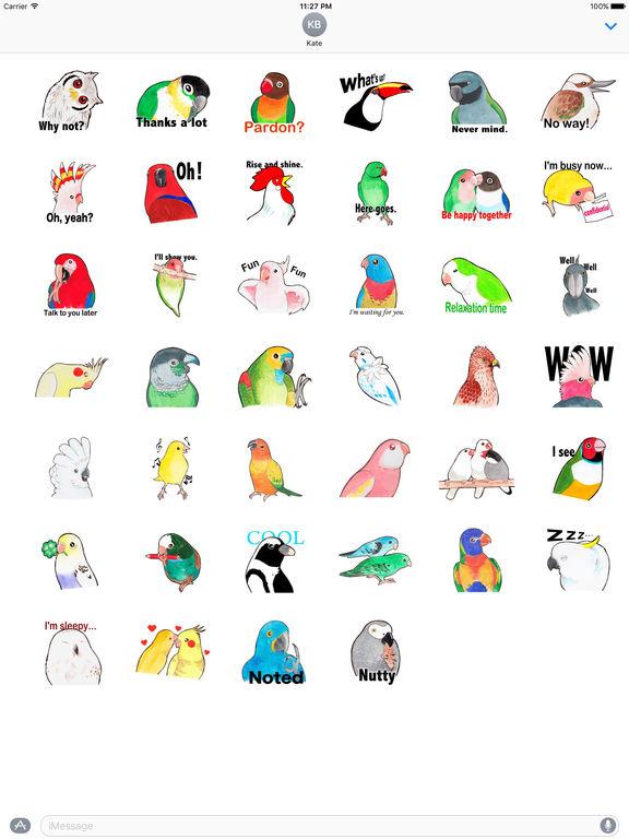 Many Various Beautiful Birds Stickers screenshot 4